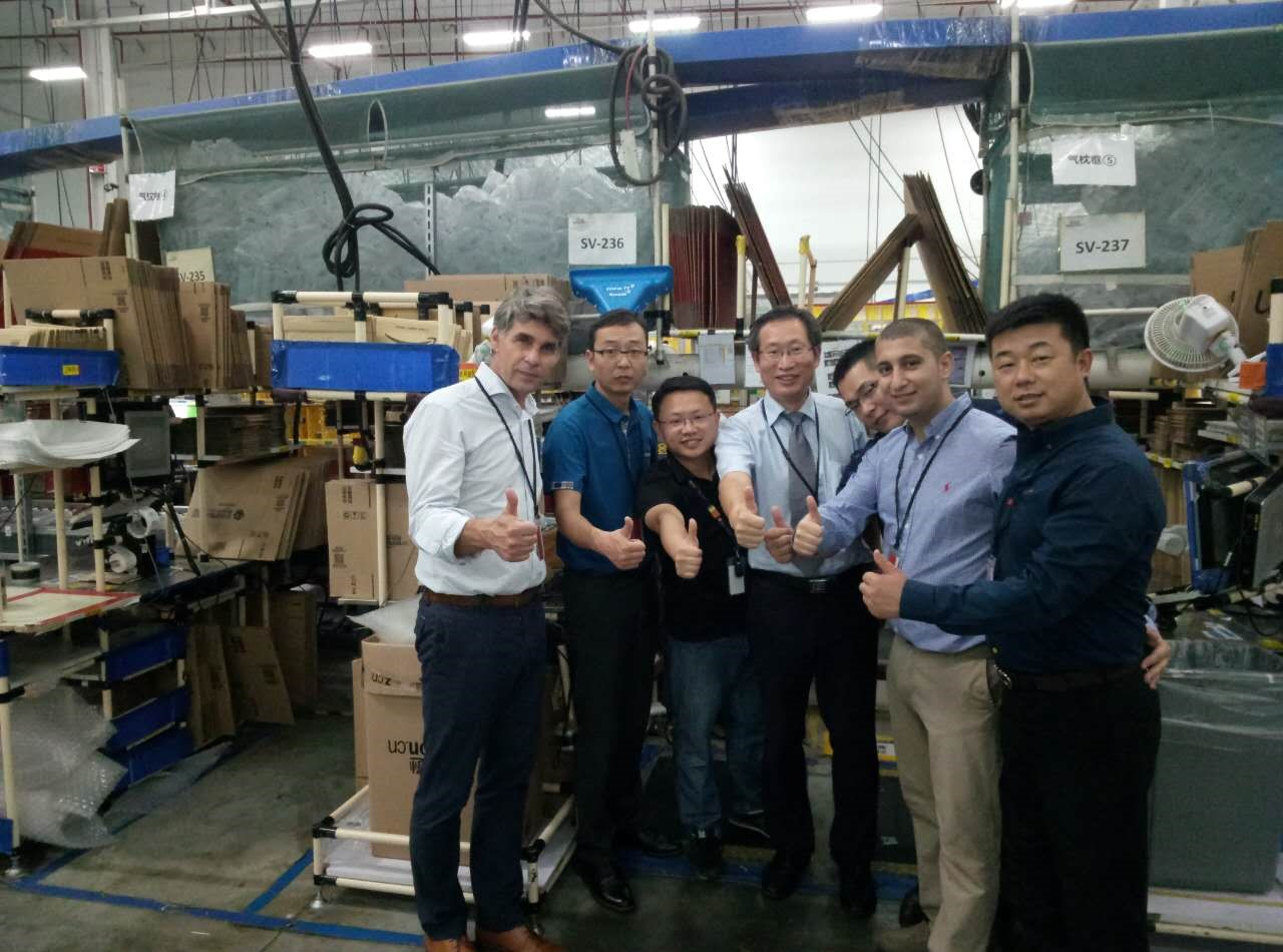 packaging engineer visits packing facility